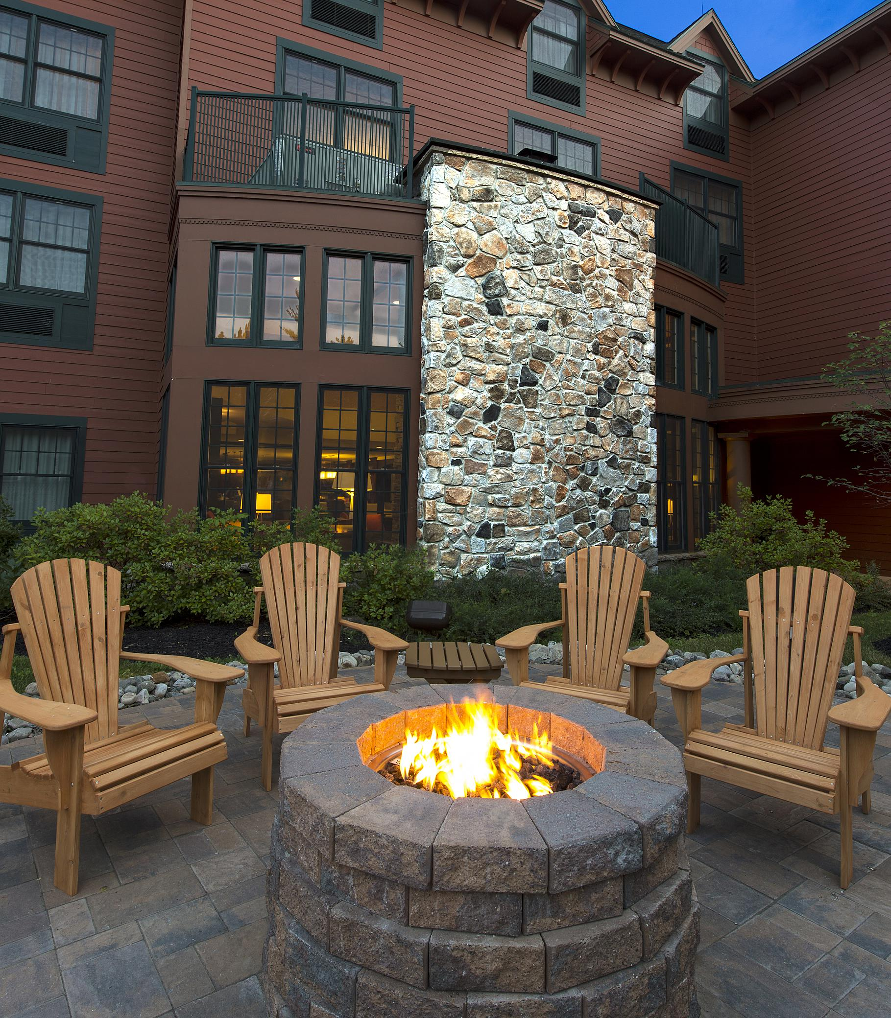 Fire pit at Courtyard Lake Placid